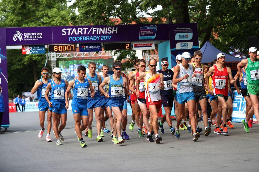 A 2017-es Európa Kupa férfi 50km rajtja
