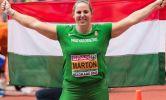 Márton Anita 2017-ben fedett pályás Európa bajnok címet szerzett/ fotó: Róth T, Horváth Gy