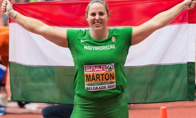 Márton Anita 2017-ben fedett pályás Európa bajnoki címet és világbajnoki ezüstérmet szerzett (Fotó: IB)