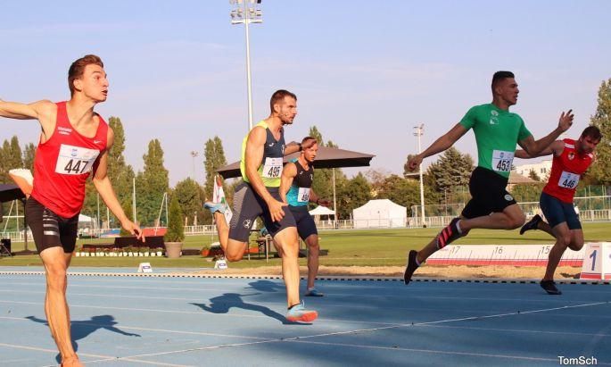 Férfi 100 méteres síkfutás döntője (Schäffer Tamás)